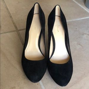 Cole Haan black suede pumps. Like new! Size 8
